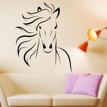 Removable Free Shipping Horse Mustang Wall Decal Art Decor Home Sticker Vinyl Mural GW-23