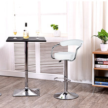 2pcs Synthetic Leather Swivel Bar Stools Chairs Height Adjustable Pneumatic Stainless Steel Stent Pub Chair Barstools HWC(China)
