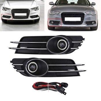 Car Front Bumper Foglight Grille Fog Light Lamp Set for Audi A6 C7 2011-2015 hot grille
