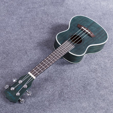 Acoustic Electric Concert Ukulele 23 Inch Hawaiian Guitar 4 Strings Ukelele Guitarra Mahogany Handcraft Green Musical Uke