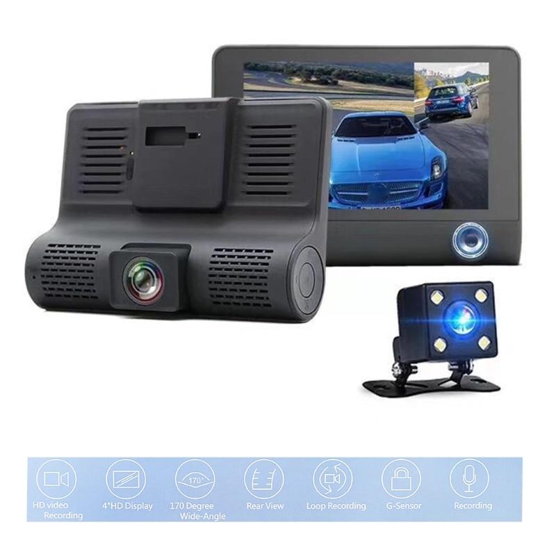 Camcorder Dash Cam-Camera Vehicle 1080P 4inch 3 Three-Lens