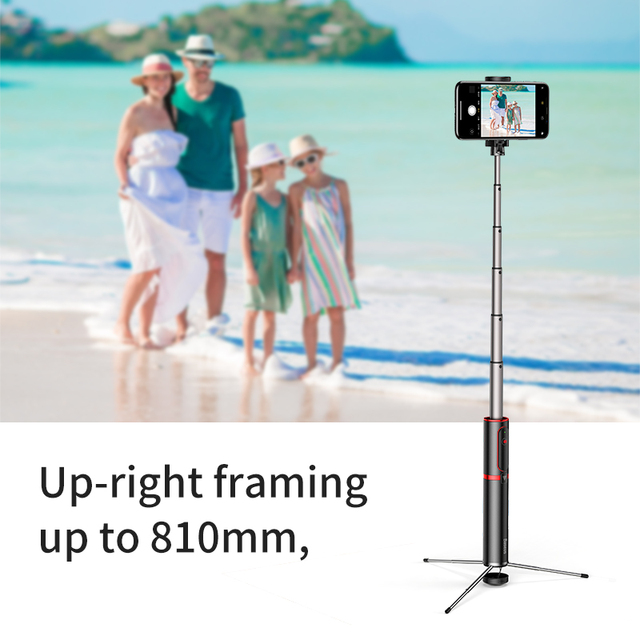 Portable Wireless Remote Selfie Stick Tripod