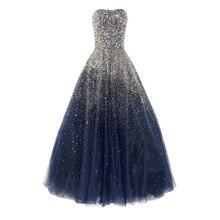 Elegant Sparkle Schatz Prom Kleider Lange Abendkleider Bodenlangen Schnelle Verschiffen Günstigen Preis Partei Kleid Promi-kleider