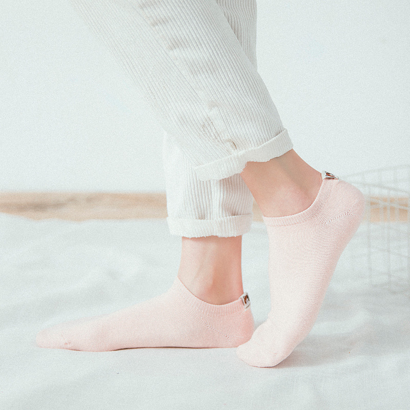 Litmon 5 Pairs Woman Ankle Socks Lot Cotton Solid Casual Short Summer 3d Print Socks Korea Cute Female Women Socks