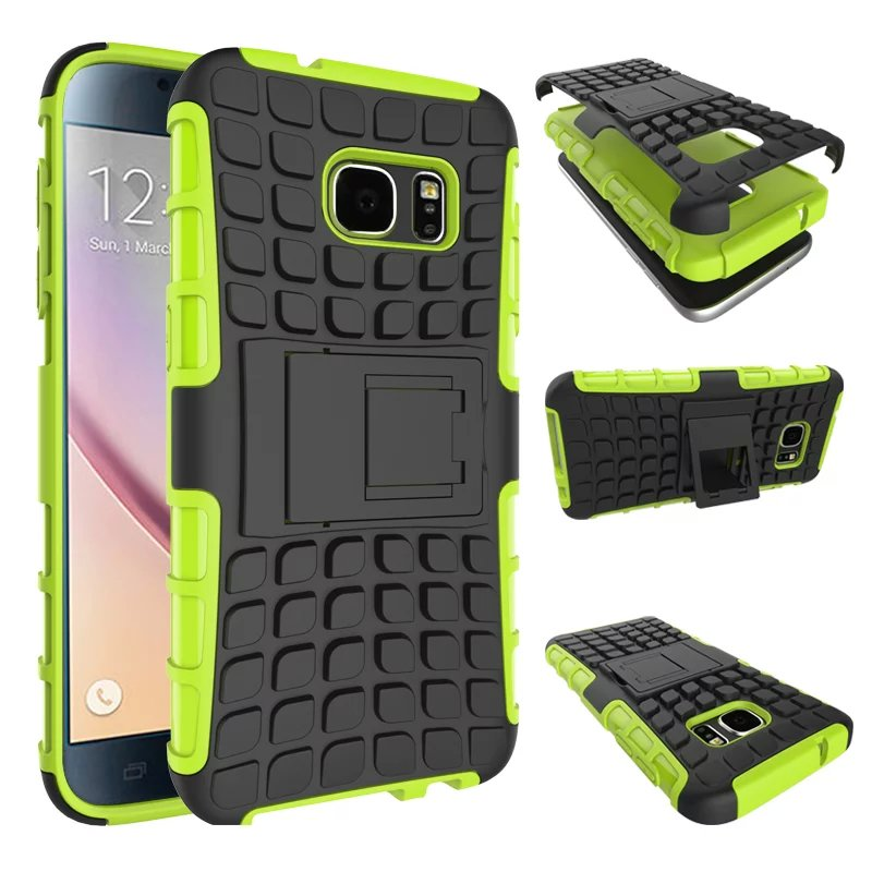 Heavy Duty Armor Shockproo For Samsung Galaxy S3 S4 S5 S6 S7 edge A3 A5 A7 J5 J7 J1 2016 G530 G360 Hard Rugged Rubber Case Cover