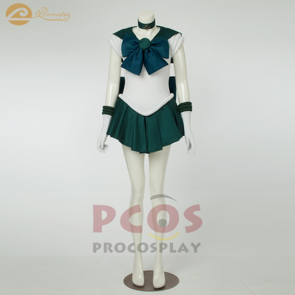 *Best Price&Ready to Ship*  Sailor Moon Sailor Neptune Kaiou Michiru Cosplay Costume women mp000515