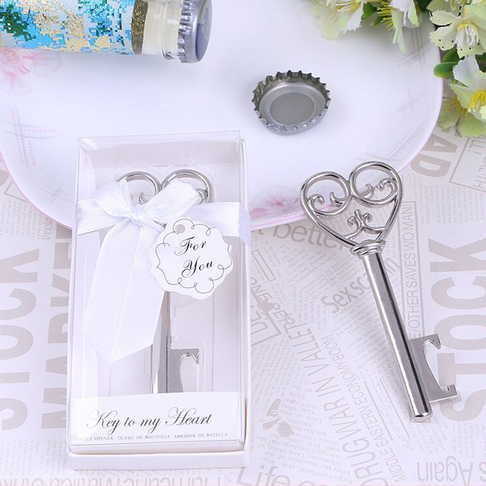 Beer Openers Creative Wedding Birthday Bottle Openers Chic Love Heart Key Design Opener Home Bar Kitchen Tools With Box