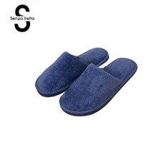 Senza Fretta/Мужская обувь; зимние теплые тапочки; мужские модные плюшевые теплые тапочки для пар; мягкие домашние тапочки для пар