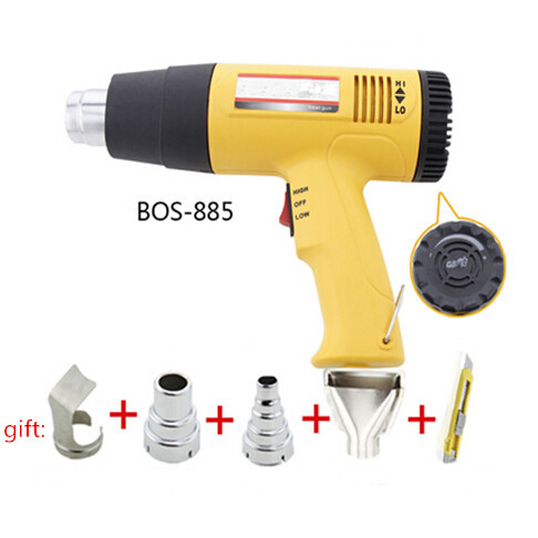 hot sale 220V 240V1600W electric hot air gun industrial drying gun hot air blower heat gun temperature gun with 4 nozzle BOS-885 купить