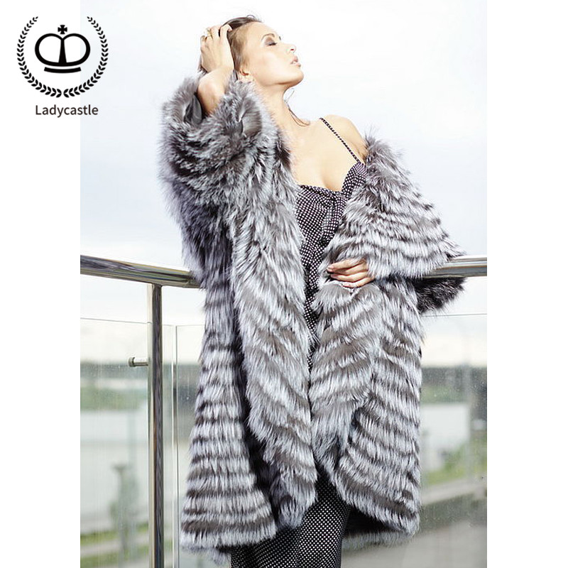 Fc Ruban Cuir Avec Veste Fox Hiver Renard En Fourrure Véritable 223 Sliver De Naturel Luxe Mode Col Style Femmes Manteau Outwear Réel Femme HqvOT4wZ