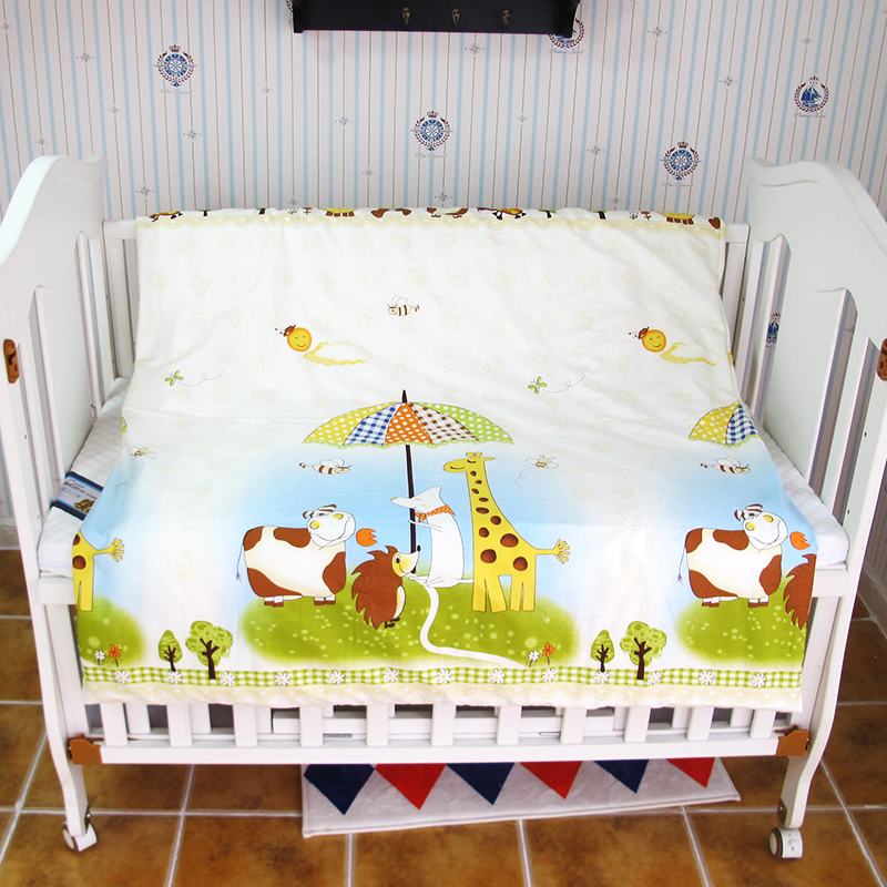 1PC Baby Bedding Cotton Duvet Cover, Cartoon Baby Quilt Cover For Girls Boys, Newborn Crib Bed Linen Duvet Cover Without Filling