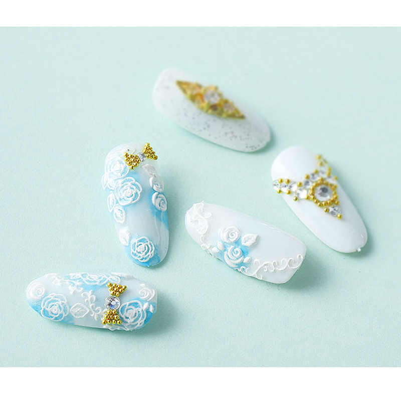 Hot 5D Nail Stickers Flower Series Embossed Nail Sticker wyt77