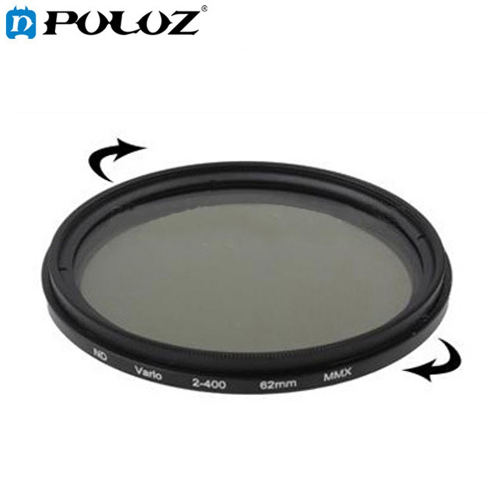 62mm ND Fader Neutral Density Adjustable Variable Filter ND 2 to ND 400 Filter lacywear nd 144 bgt