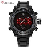 Gulper Shark Sport Horloge Grote Wijzerplaat Zwart Outdoor Mannen LED Digital Horloges Waterdichte Alarm Kalender Fashion Horloges/SH364