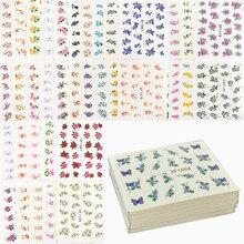 60 hojas diseños de flores adhesivo de transferencia de agua para uñas, pegatinas de uñas de marca de agua tatuajes de manicura temporales herramientas de belleza