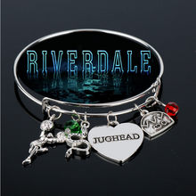 RIVERDALE Bangles Bracelets for Women Jughead Letters Heart Bangle Adjustable Charms Bracelet Jewelry(China)