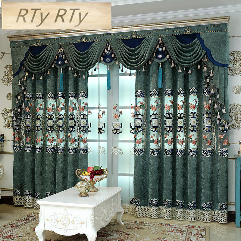 Blackout curtains for living room French window high quality curtains for Kitchen with Window Treatment Drap tulle for bedroom