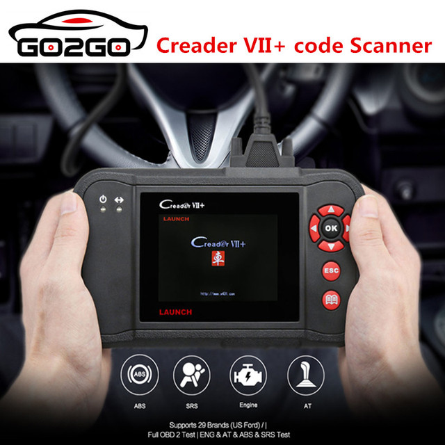 Best Price Hot Original Auto Code Reader Launch X431 Creader VII+ Creader VII Plus Update Via Offical Website OBDII Scanner Same as CRP123