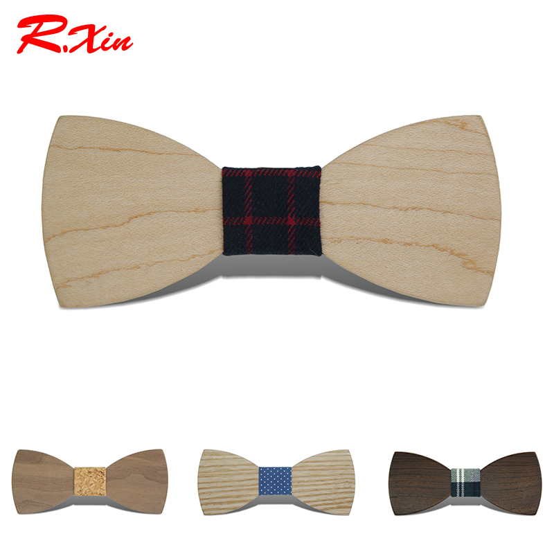 2016 Gravata Borboleta Adult Wood Bow Ties Hardwood Handmade Personality Accessory Ties For Men Butterfly Gravata Wooden Bow tie