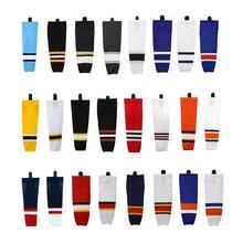 Profesyonel buz hokeyi çorapları takım hokeyi ekipmanları boyutu XS ~ XXL