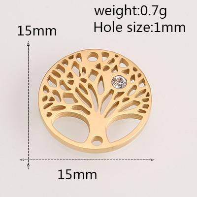Модные аксессуары для изготовления ювелирных изделий из нержавеющей стали в форме сердца/короны/рождественской елки для изготовления браслетов и ожерелья - Цвет: AC18252