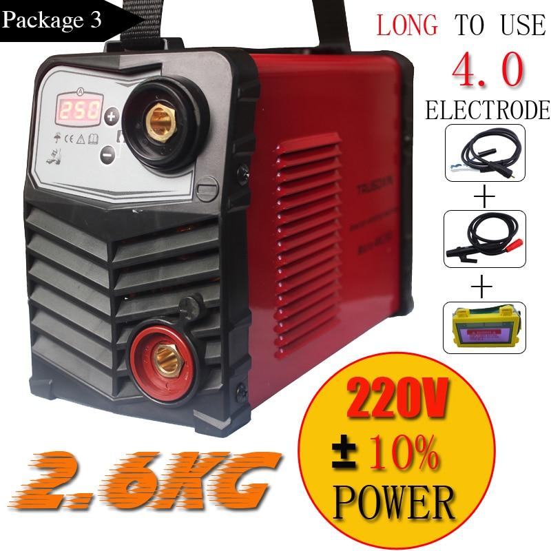 Mini Plastic panel 220V/-240V 2.6KG IGBT Inverter DC welding machine/equipment/welders Micro ARC250 stick welder for DIY