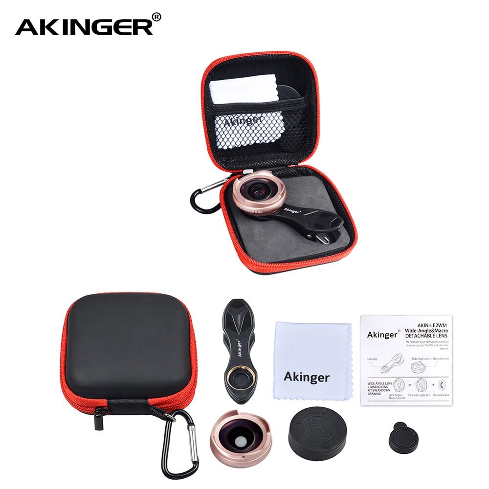 Akinger camera lens in mobile phone lens kit wide angle