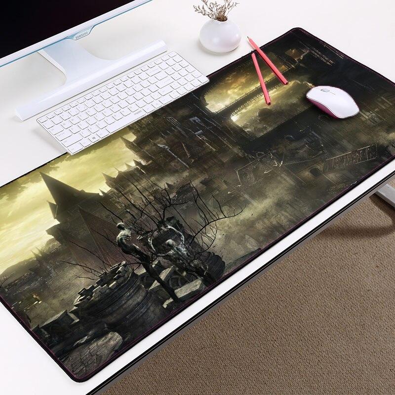 Mairuige популярные игры Темно-Soul узор классный коврик для мыши Pc Тетрадь Коврики на стол большой Размеры 400x900x3 мм оверлок края резиновые коврик...