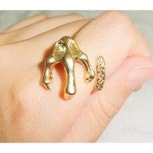 CirGen moda Vintage Punk oro Color Metal águila pájaro garra talones en forma de aleación dedo anillo mujer joyería artículo, AF066