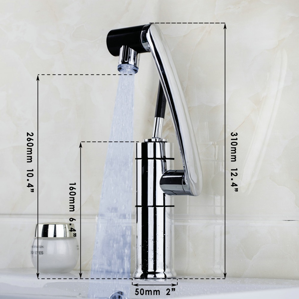 KEMAIDI New Deck Mounted Kitchen Faucet Temperature Sensor Swivel ...