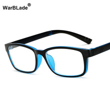 Computer Glasses Men Women Square Anti Blue Light Radiation Coating Film Tinted 0 Degree Clear Lens for Work Home Gaming