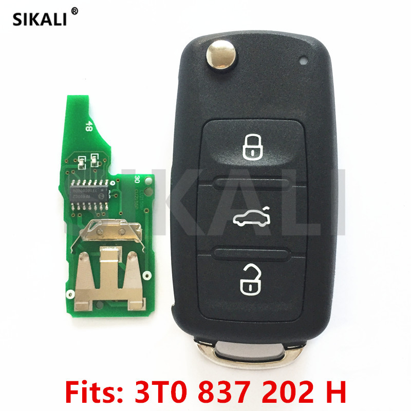 Car Remote Key for 3T0837202H/5FA010413-02 for Citigo/Fabia/Octavia/Rapid/Roomster/Superb/Yeti 434MHz with ID48 Chip HU66 Blade kawoo for skoda octavia fabia yeti rapid roomster citigo rubber rear guard bumper protect trim cover sill mat pad car styling