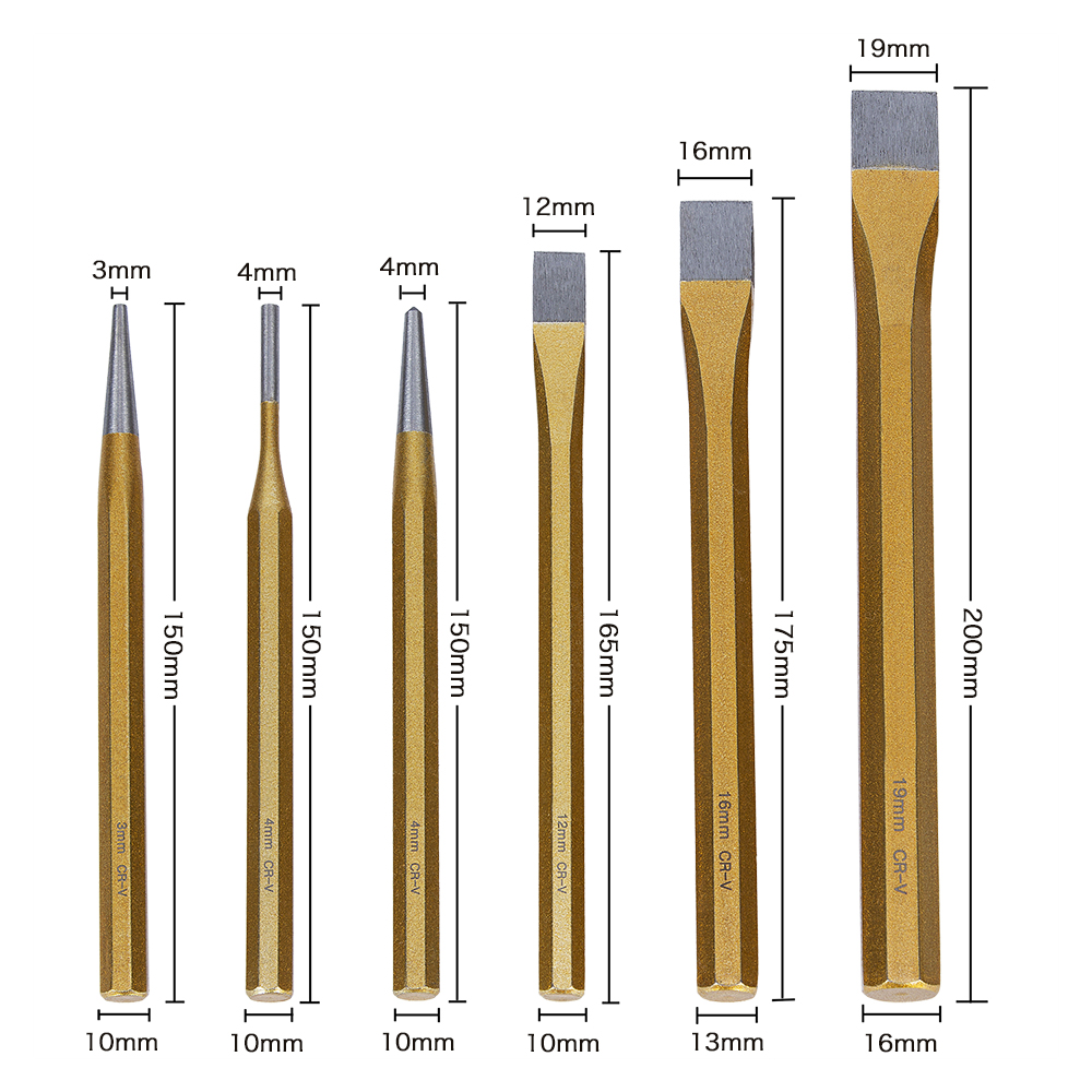 Tungsten Tip 20 mm Flat Chisel-Italian High Carbon Steel Stone Masonry /& Carving