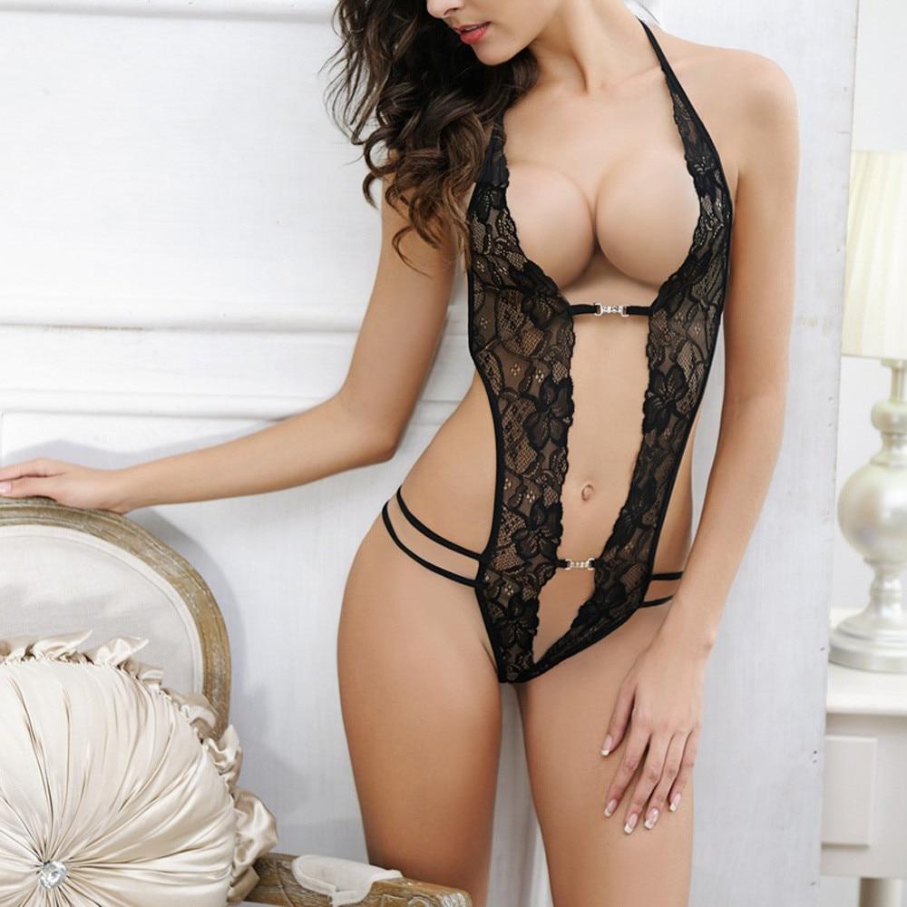 Женское сексуальное нижнее белье, горячее эротическое сексуальное порно, кружевное цельное нижнее белье, боди Тедди, женская летняя ночная ...