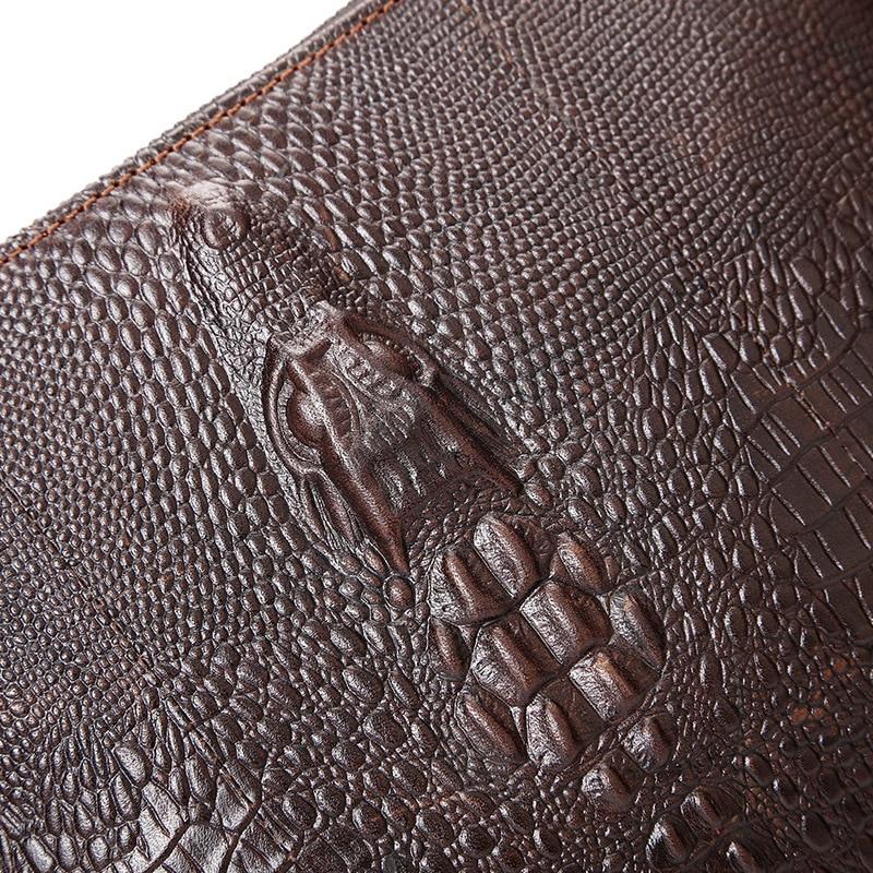 Sac Messenger Garantie Doux 100 Kundui Croix Crocodile Vintage Véritable En Kaki Motif corps Épaule Cuir Femmes Sacs Femelle De v0Sq0