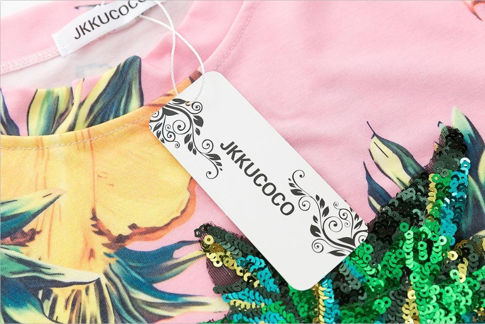 HTB1dzjWQVXXXXbAXpXXq6xXFXXXv - Top Hot Sequined Print Pineapple Women t shirt Short Sleeve