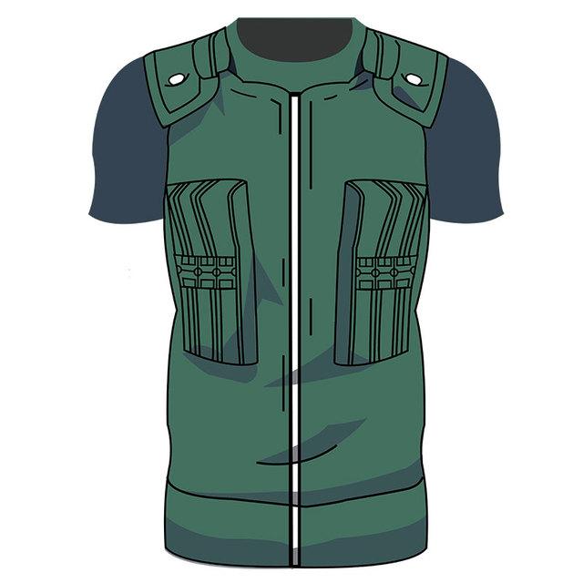 Men Uzumaki Hatake Kakashi Uchiha Naruto 3D T Shirt