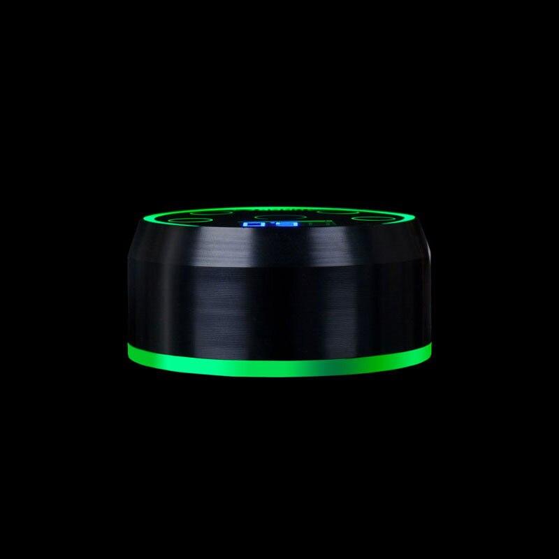 EZ Novo AURORA II LCD Poder Tatuagem de Alimentação para Máquina de Tatuagem Rotativo 2 Pedal Modo Preto Prata 1 pçs/lote - 4