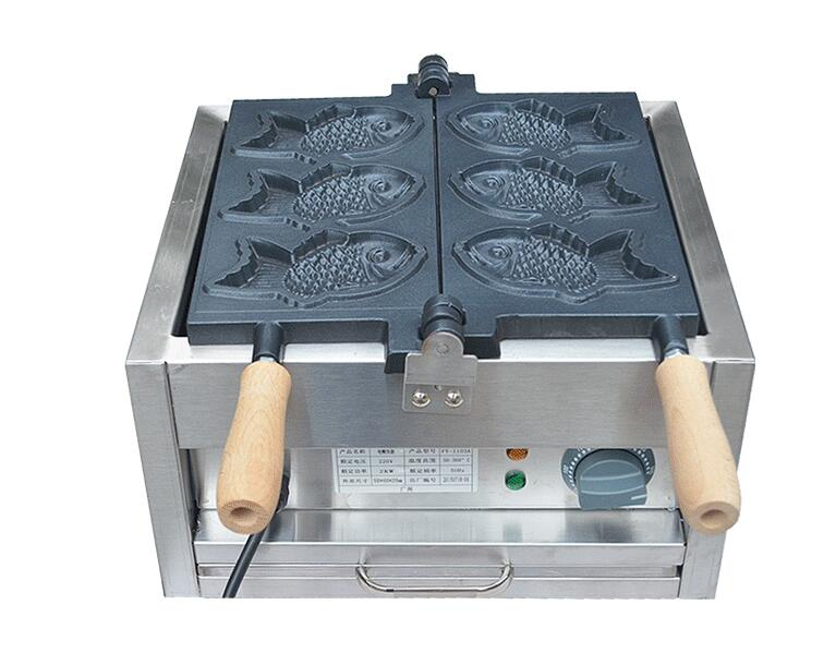 110V 220V Electric 3 PCS fish waffle maker Taiyaki machine  ...