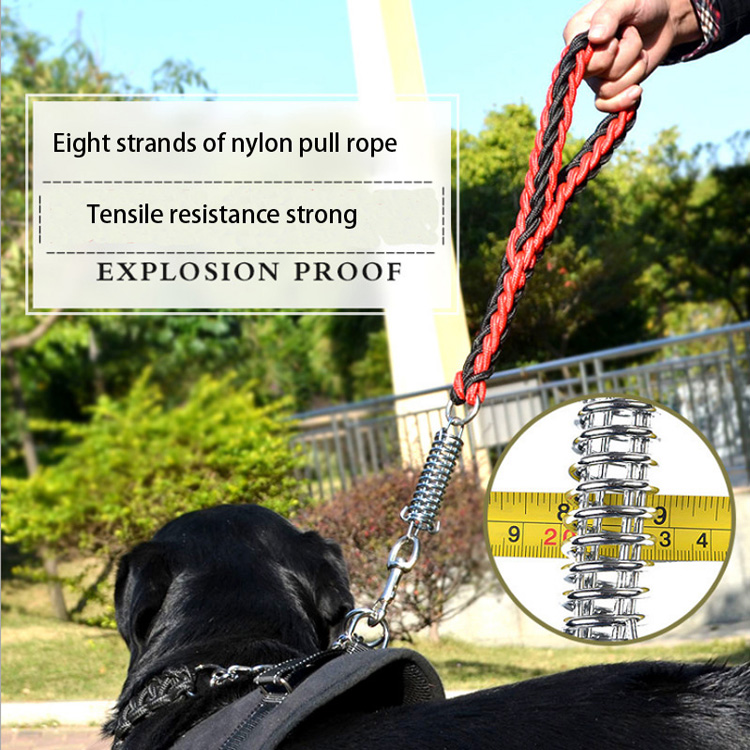 N16 High quality Large Dog Traction Rope Big Dog Leash nylon Woven large Pet rope product for dogs Explosion proof Dog Leash