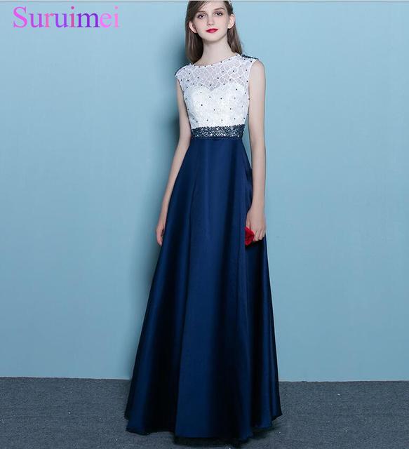 Real Image Dark Navy Blue Cheap Bridesmaid Gowns 2018 Women Party ...