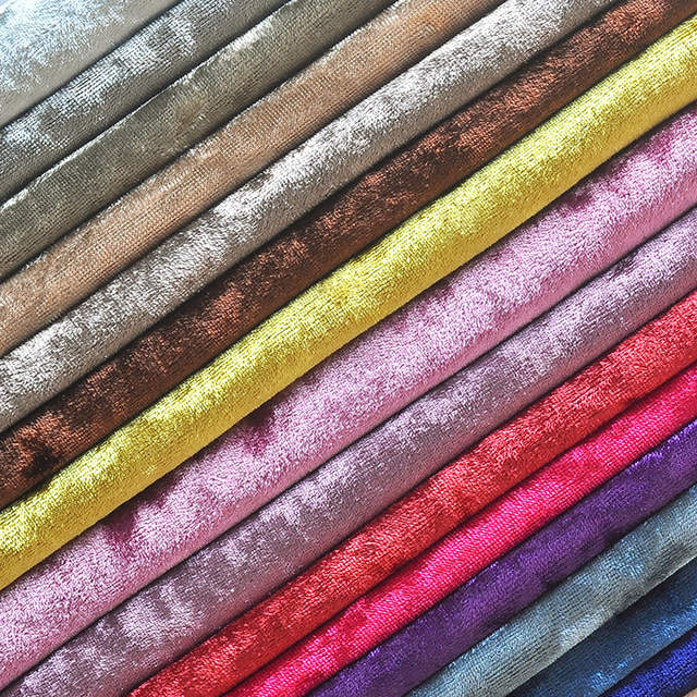 Online Shop Half Meter Colorful Thick Velvet Fabric Upholstery For