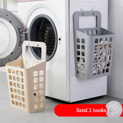 Unbreakable wall-mounted hamper home bathroom dirty clothes storage basket dormitory