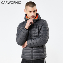 CARWORNIC Winter Jacket Men Fashion Warm Windproof Thick Hooded Thermal Men Parkas Casual Cotton Padded Outerwear Zipper Jacket