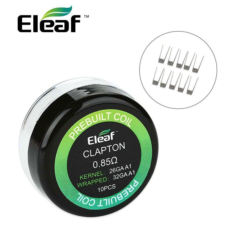 10pcs/pack Original Eleaf Prebuilt Clapton Coil 26GA A1 &30GA A1 Wire with 0.85ohm Resistance for Lemo 3.E-cigarette Accessories