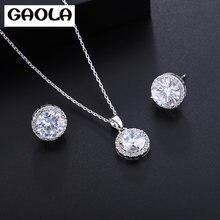 Женское Ожерелье gaola колье с круглым кубическим цирконием