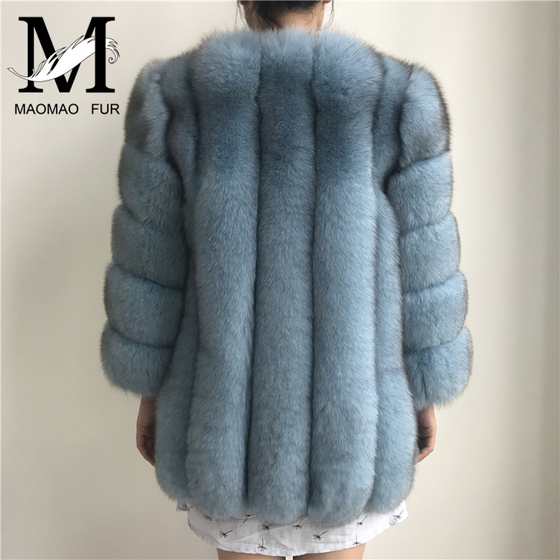 Vêtements light light Manteau natural Femmes De Véritable Red light Fourrure Mode Grey Black Naturel Chaud Renard Tip wine dark Long Veste D'hiver Hiver Blue Blue Réel silver Fur Fox purple Style Grey Manteaux black White White wqvUvd