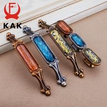 KAK Vintage Crystal Cabinet Knobs and Handles European Drawer Knobs Kitchen Handle Cupboard Door Pulls Furniture Handle Hardware недорого