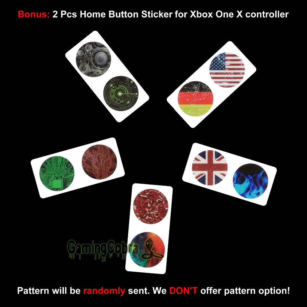 US $9 99  Aliexpress com : Buy Full Set Faceplates Cover, Home Guide Button  Decal, Console Controller Skin Sticker for Xbox One X Colorful Triangle by