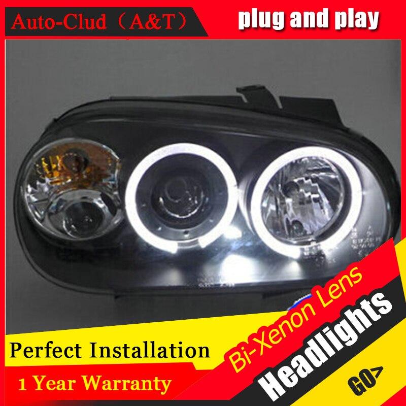 Auto Clud vw golf 4 98 05 headlights Angel Eyes light xenon lens LED car light
